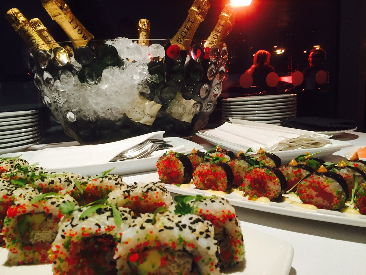 sushi and champagne me london hotel